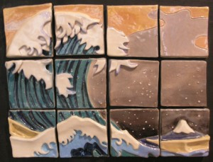 Ceramic tiles by youth artist