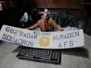 Basim Jaber with Almaden Air Force Station sign