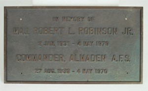 Major Robinson plaque