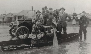 Boating on San Fernando Street, San Jose, CA, c. 1911, History San Jose Collection