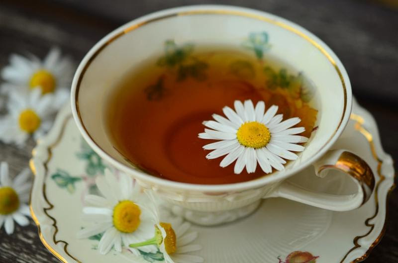 Spring Tea teacup with daisy